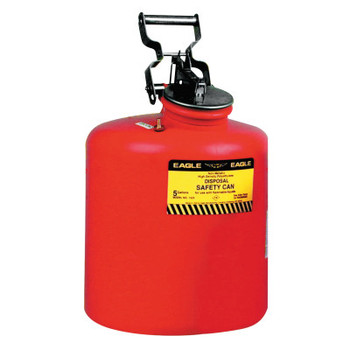 Eagle Mfg Waste Disposal Cans, Hazardous Waste Can, 5 gal, Red, Galvanized Steel (1 CAN/BOX)