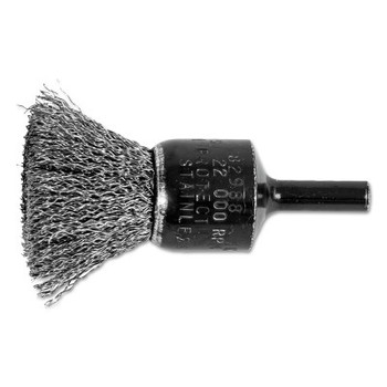 "Advance Brush Standard Duty Crimped End Brushes, Stainless Steel, 20,000 rpm, 3/4"" x 0.01"" (10 EA/BAG)"