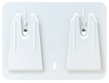 Kimberly-Clark Professional Access Wall Mount Wiper Dispensers, Wall, Steel, White (1 EA/PK)