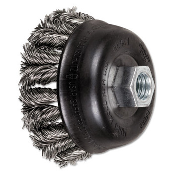 Advance Brush COMBITWIST Knot Wire Cup Brush, 3 1/2 in Dia., .02 in Stainless Steel Wire (1 EA/CD)