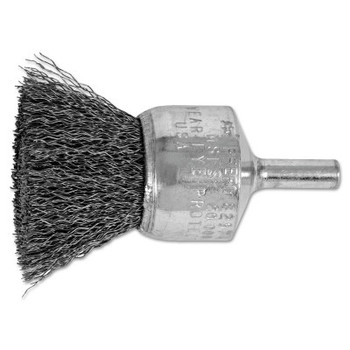 "Advance Brush Standard Duty Crimped End Brushes, Carbon Steel, 20,000 rpm, 1"" x 0.01"" (1 EA/EA)"