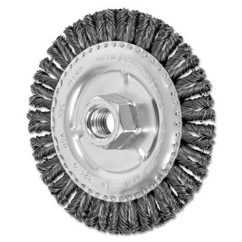 Advance Brush COMBITWIST Stringer Wheel, 4 7/8 D x 3/16 W, Carbon Steel Wire, 5/8 in - 11 (1 EA/BX)
