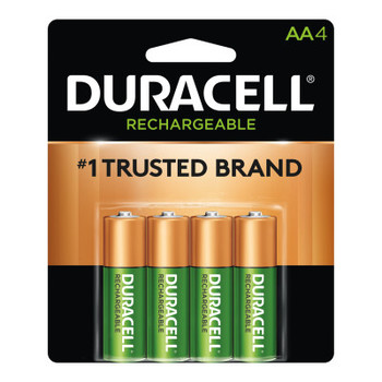 Duracell Pre-Charged Rechargeable Batteries, NiMH, 1.5 V, AA (1 PK/EA)