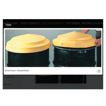 Eagle Mfg Closed Head Drum Cover, High Density Polyethylene (HDPE), 23 in Dia. (1 EA/BX)