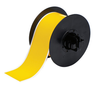 Brady BBP31 Indoor/Outdoor Vinyl Tapes, 100 ft x 2 1/4 in, Yellow (1 RL/BX)
