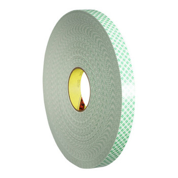 3M Double Coated Urethane Foam Tapes, 1 in x 72 yd, 62.5 mil, Green (1 RL/BX)