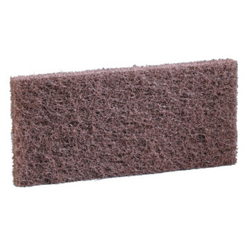 3M Doodlebug Scrub n Strip Pad, 4 5/8 in x 1 in x 10 in, Brown (20 EA/CA)