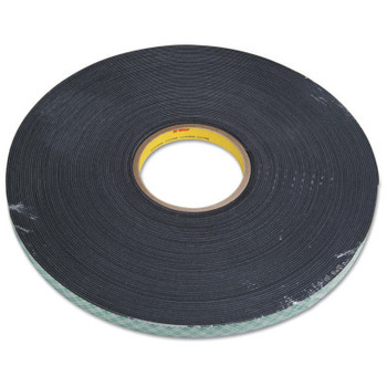 3M Double Coated Urethane Foam Tapes 4056, 3/4 in X 36 yd, 62 mil, Black (12 RL/CA)