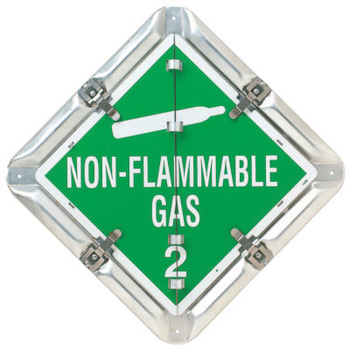 Brady Flip-Style Placards, Blank/Flammable Gas 2/Non-Flammable 2/Oxygen 2 (1 EA/EA)