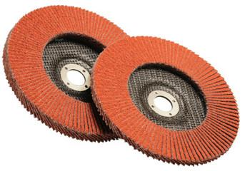 3M Flap Discs 947D, 4 1/2 in, 120 Grit, 7/8 in Arbor, 13,300 rpm (10 CS/CA)