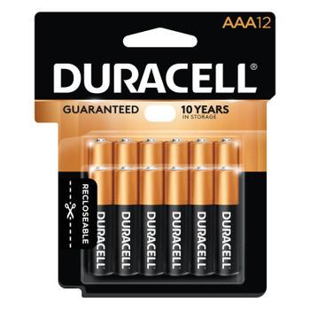 Duracell CopperTop Batteries, DuraLock Power Preserve Alkaline, 1.5 V, AAA (12 PK/CT)