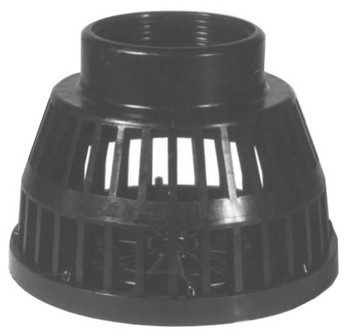 Dixon Valve Threaded Black Polyethylene Strainers, Strainer, 2 in Inlet (10 EA/CTN)