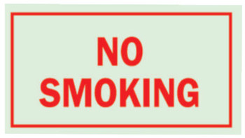 Brady Glo Glow-In-The-Dark Safety Signs, No Smoking, Glow Background/Red Text (1 EA/CTN)