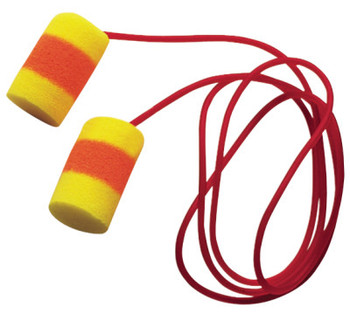 3M E-A-R Classic SuperFit 30 Foam Earplugs, PVC, Red/Yellow, Corded (200 PR/CTN)