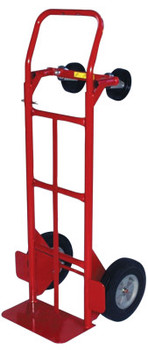 Milwaukee Hand Trucks Convertible Hand Trucks, 600 lb Cap., 8 in x 14 in Base Plate, Flow Back Handle (1 EA/EA)