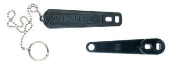 Western Enterprises Cylinder Wrenches, For Oxygen Cylinders, Plastic, With Security Chain (1 EA/CA)