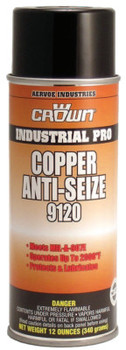 Aervoe Industries Anti-Seize Compounds, 16 oz Aerosol Can, Copper (12 CN/CA)