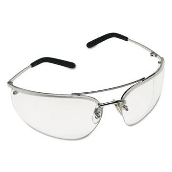 3M Metaliks Safety Eyewear, Clear Lens, Anti-Fog, Hard Coat, Silver Frame, Metal (20 EA/CA)