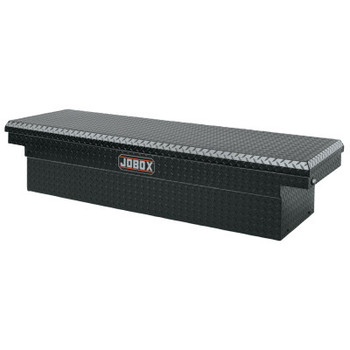 "Apex Tool Group Aluminum Single Lid Crossover Truck Boxes, 71"" x 20 7/8"" x 17 1/4"", Black (1 EA/BX)"