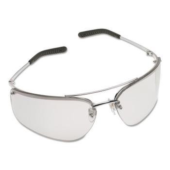 3M Metaliks Safety Eyewear, Indoor/Outdoor Mirror Lens, HC, Silver Frame, Metal (20 EA/CA)