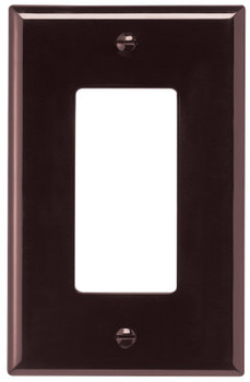 Cooper Wiring Devices WALLPLATE 1G DECORATOR POLY MID BR (20 PK/CA)