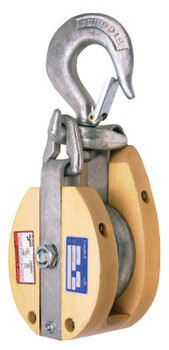 Apex Tool Group Drop Link Manila Rope Snatch Blocks, 1 Wheel, 2,400 lb, 7/8 in Cable (1 EA/CA)