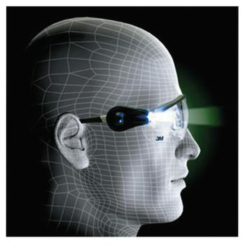 3M Light Vision 2 Protective Eyewear, Clear Lens, Anti-Fog, Gray Frame (1 EA/CA)