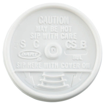 Dart Container Corp. Sip-Thru Lids, Use With 8J8, White, 1,000 per case (1 CA/CA)