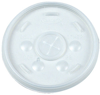 Dart Container Corp. Straw-Slotted Lids, Use With 12J12, Translucent, 1,000 per case (1 CA/CA)