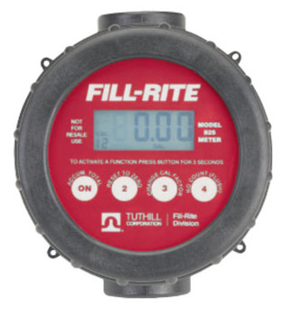 Fill-Rite Digital Flow Meters, 1 in Inlet, 2 gal/min - 20 gal/min (1 EA/CA)