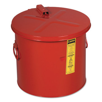 Justrite Dip Tanks, Hazardous Liquid Cleaning Tank, 8 gal, Red (1 EA/EA)
