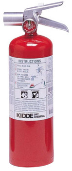 Kidde Halotron I Fire Extinguishers, For Class B and C Fires, 5 lb Cap. Wt. (1 EA/CA)