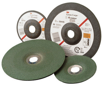 "3M Green Corps Flexible Grinding Wheel, 4 1/2"" Dia, 7/8 Arbor,  1/8"" Thick, 46 Grit (1 EA/CA)"