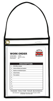 C-Line Products, Inc. BLK SHOP TICKET HOLDER W/STRAP CLR 9 X 12 (1 BX/CA)