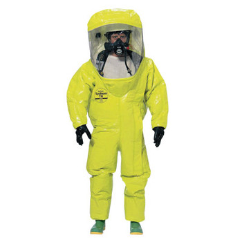 DuPont Tychem TK Encapsulated Level A Suit Rear Entry, Lime Yellow, Large (1 EA/CA)