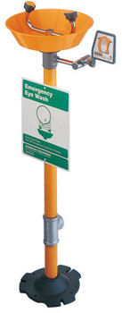 Guardian Pedestal Mounted Eye Washes, 11 1/2 in, Plastic (1 EA/CA)