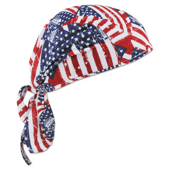 Ergodyne Chill-Its 6615 High-Performance Dew Rags, 6 in X 20 in, Stars/Stripes (1 EA/CN)