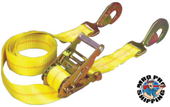 Keeper Ratchet Tie-Down Straps, Twisted Snap Hooks, 2 in W, 10 ft L, 6,000 lb Capacity (3 CTN/EA)