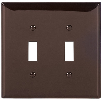 Cooper Wiring Devices WALLPLATE 2G TOGGLE POLYMID BR (20 EA/RL)