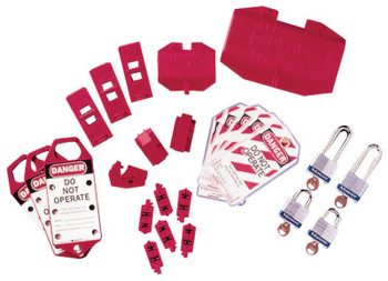 Brady Electrical Lockout Starter Kits, 43-Piece plus Carrying Bag (1 KIT/EA)
