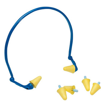 3M E-A-Rflex Hearing Protector with Foam Tips, Foam, Blue/Yellow, Banded (10 EA/EA)