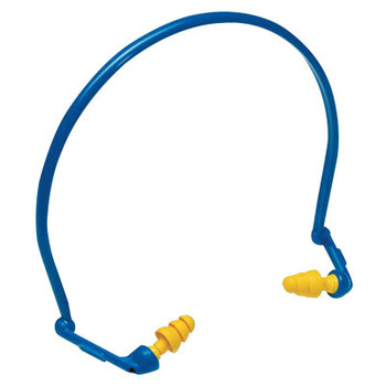 3M E-A-Rflex Hearing Protector with Ultrafit Tips, Blue/Yellow, Banded (10 EA/RL)