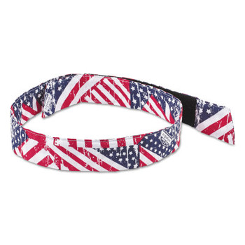 Ergodyne Chill-Its 6705 Evaporative Cooling Hook and Loop Bandanas, Stars/Stripes (24 EA/PK)