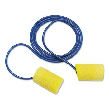 3M E-A-R Classic Foam Earplugs, Yellow, Uncorded (200 PR/EA)
