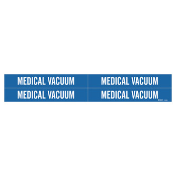 Brady Medical Gas Pipe Markers, Medical Vacuum, White on Blue Vinyl, 1 1/8 in x 7 in (1 CG/RL)