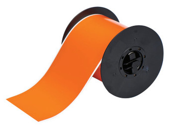 Brady BBP31 Indoor/Outdoor Vinyl Tapes, 100 ft x 4 in, Orange (1 RL/RL)