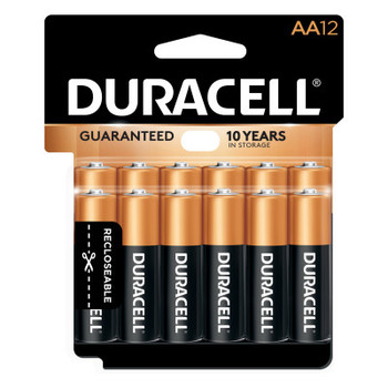 Duracell CopperTop Batteries, DuraLock Power Preserve Alkaline, 1.5 V, AA (12 PK/KT)