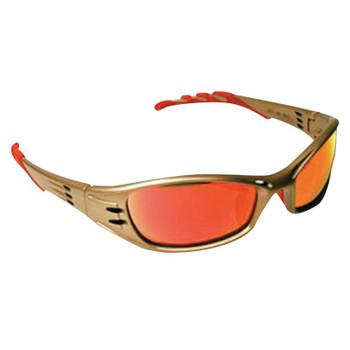 3M Fuel Safety Eyewear, Red Mirror Lens, Anti-Fog, HC, Metallic Sand Frame, Nylon (1 EA/KT)
