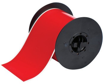 Brady BBP31 Indoor/Outdoor Vinyl Tapes, 100 ft x 4 in, Red (1 RL/KT)
