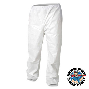Kimberly-Clark Professional A20 SELECT BREATHABLE PARTICLE PROT PANTS WHT M (50 CA/PK)